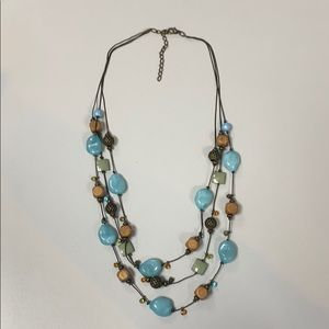 Brown and turquoise necklace